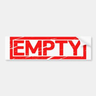 Empty Stamp Bumper Sticker