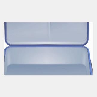 Empty suitcase illustration rectangular sticker