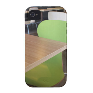 Empty tables and chairs in cafes without visitors vibe iPhone 4 covers