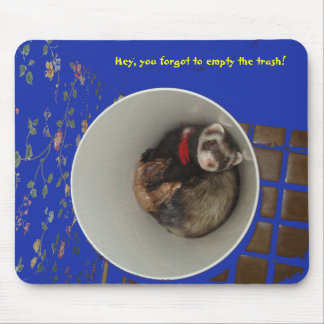 Empty The Trash Mouse Pad Blue