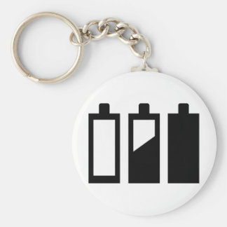 empty to full batteries keychain