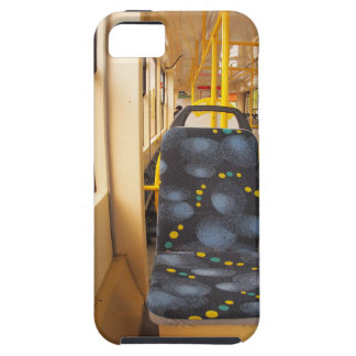 Empty tram rides through the streets iPhone 5 cover