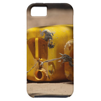Empty water cans at a well in Africa. iPhone 5 Case