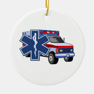 EMS Ambulance Ceramic Ornament