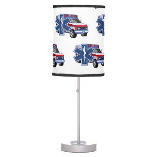 EMS Ambulance EMT Paramedic Rescue Lights Table Lamp