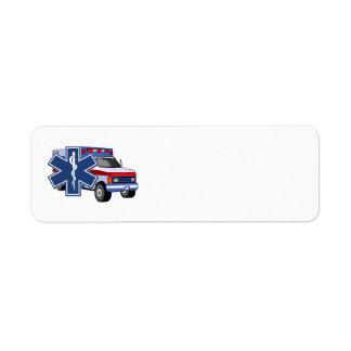 EMS Ambulance EMT Paramedic Return Address Label