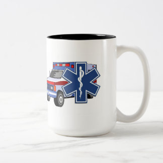 EMS Ambulance Two-Tone Coffee Mug