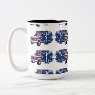 EMS Ambulance Two-Tone Coffee Mug