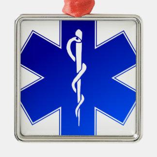 EMS Emergency Medical Service Metal Ornament