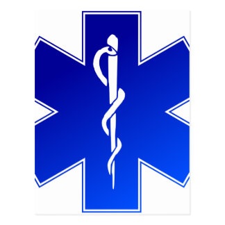 EMS Emergency Medical Service Postcard