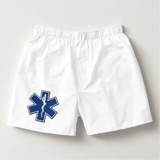 EMS EMT Paramedic Active Star Of Life Boxers
