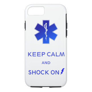 EMS Keep calm and shock on iPhone 7 tough case. iPhone 8/7 Case