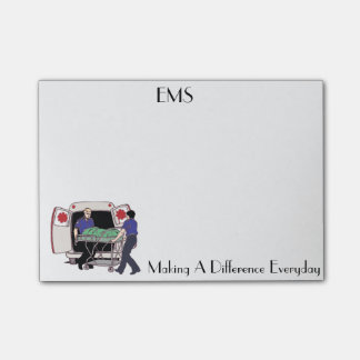 EMS Making A Difference Everyday Post It Notes Post-It Note