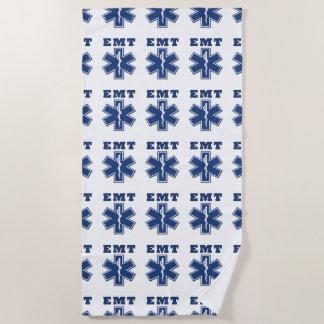 EMS Paramedics and EMT Rescue Logo Beach Towel