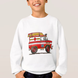 EMS Rescue Van Ambulance Fire Truck Sweatshirt