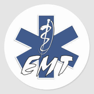 EMT Active Star of Life Classic Round Sticker