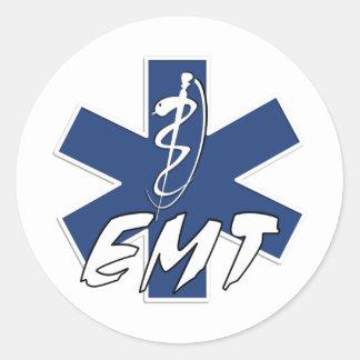 EMT Active Star of Life Round Sticker