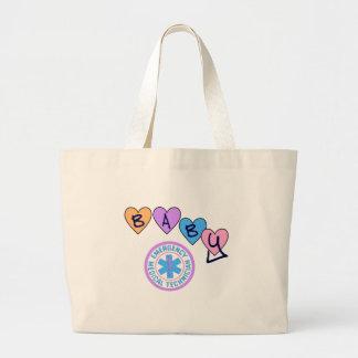 EMT Baby Star of Life Large Tote Bag