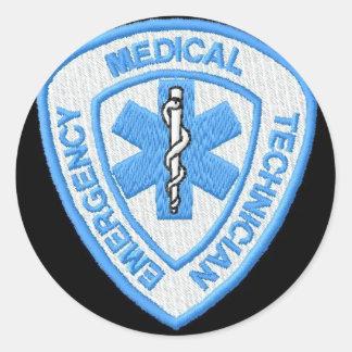 EMT BADGE CLASSIC ROUND STICKER