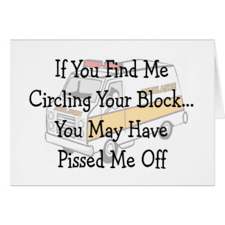 "EMT --""Circling The Block"" Funny Gifts Greeting Card"