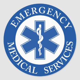 EMT Classic Style Medic Classic Round Sticker
