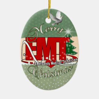 EMT Emergency Medical Technician CHRISTMAS Ceramic Ornament