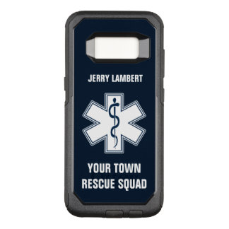 EMT EMS Paramedic Name and Squad OtterBox Commuter Samsung Galaxy S8 Case