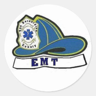 EMT Helmet Classic Round Sticker