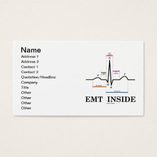 EMT Inside (ECG/EKG Electrocardiogram) Business Card
