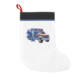 EMT Paramedic EMS Ambulance Small Christmas Stocking