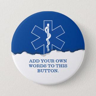 EMT Paramedic Symbol Custom 3 Inch Round Button
