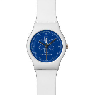 EMT Paramedic Symbol Custom Watch