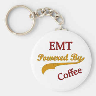 EMT Powered By Coffee Keychain