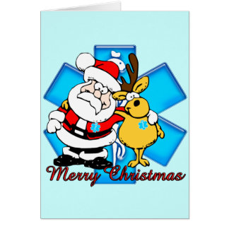 EMT Santa Christmas Card