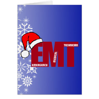 EMT SANTA - CHRISTMAS EMERGENCY MEDICAL TECHNICIAN CARD
