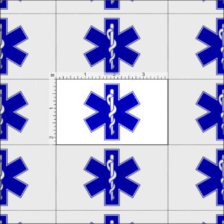 EMT Star of Life Fabric