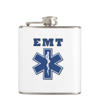 EMT Star of Life Hip Flask