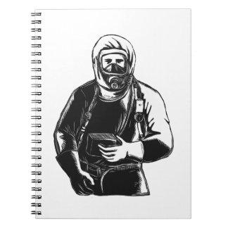 EMT Wearing Hazmat Suit Scratchboard Notebooks
