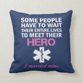 EMT's Wife Throw Pillow