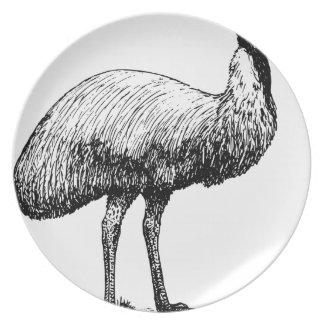 Emu Bird Plate