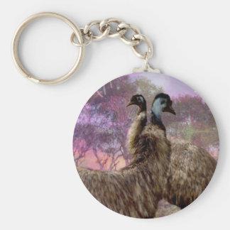 Emu Dreaming Basic Round Button Keychain