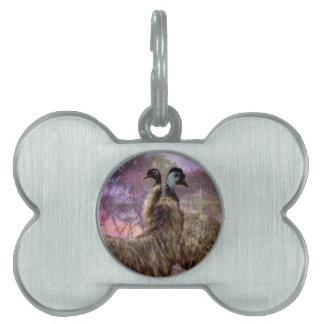 Emu Dreaming Pet Name Tag