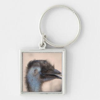 Emu Face Keychain