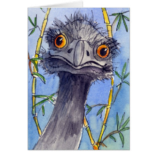 Emu greeting card, just for the fun of it. card