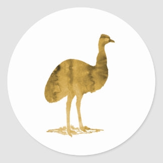 Emu Round Sticker