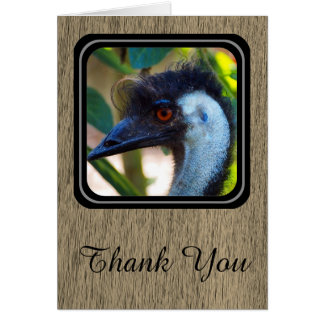 Emu Thank You card