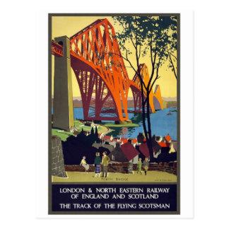 En avant pont - art vintage d affiche de voyage cartes postales