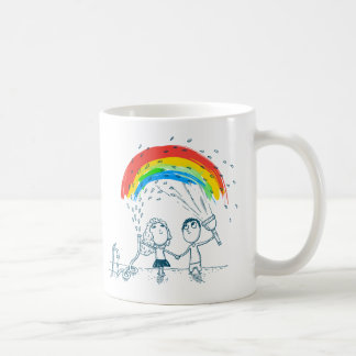 En créant l arc-en-ciel aimez ensemble la tasse de