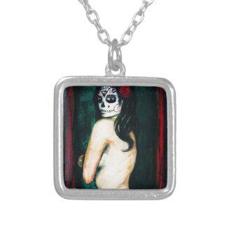En el Dia de los Muertos Silver Plated Necklace