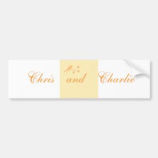 En épousant la cérémonie stationnaire et civile cu autocollant de voiture